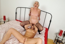 Viviana n Chicky Clarissa old-young couple fucking
