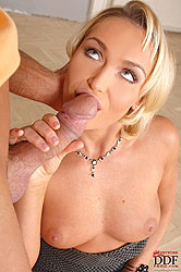 Blonde Kathia Nobili sucking dick