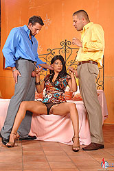 Hot Yoha gets filled by two guys
