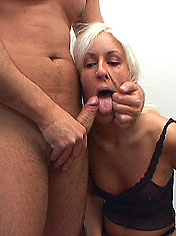 Blond filthy Tia gets facial in a hard pissing act