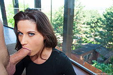 Sultry brunette Madlin Moon gets her big round butt drilled hard until a cum oozes out of her asshole like thick custard. Apr-2015 1616