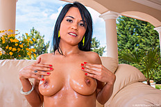 Teen newcomer Aida Sweet comes with a fresh set of natural C cup boobs. She gets them fondled, fucked and then jizzed upon.  Jul-2014 1111