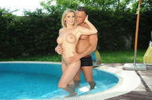 Busty Tanya Tate fucked n gets facial outdoor