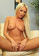Diana Doll strips out of sexy bra and panties to masturbate!