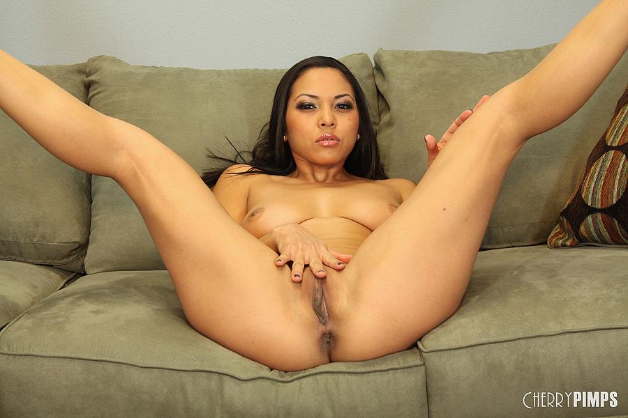 Adrianna luna masturbates at the dinner table 6