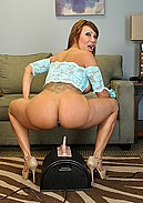 Asian MILF Ava Devine rides the sybian live while fucking herself in the ass!
