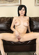 Slutty Sativa Rose masturbates life with her huge boobs out!