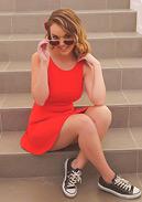 Pornstar Dillion Harper Stunning in Red
