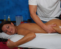 Beautiful all natural 18 year old fucked hard by her massage therapist