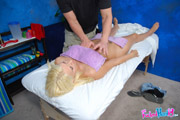 hot 18 year old blonde receives a massage and a hard fucking!