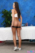 Gorgeous 18 year old cutie gets a massage and a a lot more from her massage therapist, Jake!