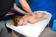 18 year old slut gets fucked hard by her massage therapist