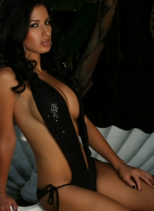 Alluring Vixens: Stunning exotic Alluring Vixen babe Liz teases with her big boobs in a skimpy sequined outfit that leaves little to the imagination