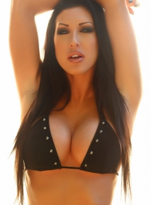 Alluring Vixens: Teasing Alluring Vixen babe Summer shows off her big boobs in her sexy black bikini