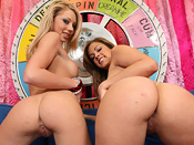 Shawna Lenee & Katie Cummings - Busty blonde whores get there nasty pussy fucked by black cock!