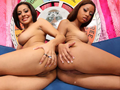Vanessa Leon & Angel Cummings - Two hot sluts fuck big black mega cock !