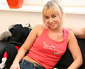 Cindy - Sexy blonde European Cindy gets fucked doggy style