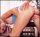 Inspecting her firm and tight eighties ass with his big cock