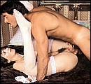 Retro lady loves to ride an erect cock with her tight ass