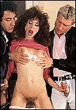 Hairy seventies lady fucked hard by two big dicked guys