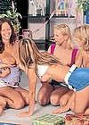 Group of lesbian girlfriends getting very naughty together