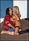 Ron Jeremy banging a dirty British slutty blonde with Jim