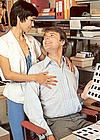 Horny seventies lady fucked by her boss in her own office