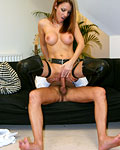 Brunette British slut gets stuffed by a horny old geezer