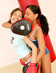 Boxing teenage lesbians toying eachothers tight pussyhole