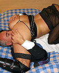 Thick British slut in stockings gets fucked hard by Jim