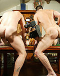 Two British sluts getting pounded hard on this pool table