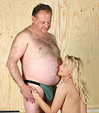 Several dirty and old men exposed with their sexy babes