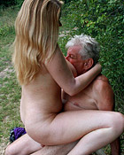 Peeking at enormous breasts on hot blonde brings senior sex