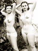 Several fifties ladies going naked in their own backyard