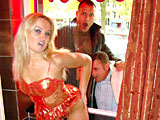 Curvy blonde prostitute pleasing a horny tourist from Greece