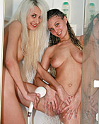 Two naughty teenie friends toying with their skippyball