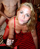 Blonde Amsterdam hooker fucked by two horny tourist guys