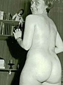 Several amateur wifes showing their big round vintage asses