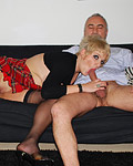 Willing British streetslut fucked by horny senior at home