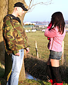 Brunette Dutch teenage girl gets pounded in an open field