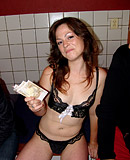 The sexy hooker is being fucked by a horny paying client