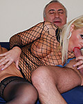 Horny and sexy chick fucks an old british senior hardcore
