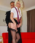 Sexy hot english street slut fucked by a horny senior guy