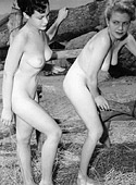 Vintage large boobs outside chicks posing naked pictures
