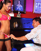 Horny and very hot chick loves seducing the piano teachers