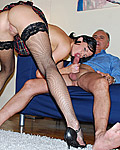 Old british dude screwing a very naughty schoolgirl hard
