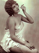Few very hot smoking vintage chicks posing nude with sigaret