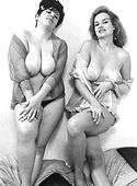 Several very sexy vintage girls posing nude in the fifties