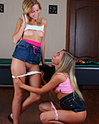 Lesbian teen chicks exploring eachothers untainted bodies