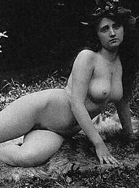 Some very sexy and vintage girls playing outdoors naked